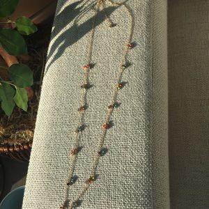 Multi small stone necklace